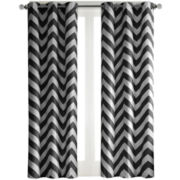 Pisces 2-Pack Chevron Grommet-Top Curtain Panels