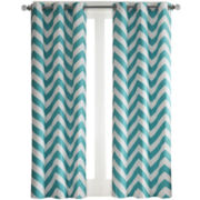 Aries 2-Pack Chevron Grommet-Top Curtain Panels