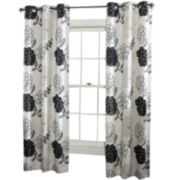 Summer Garden 2-Pack Grommet-Top Curtain Panels