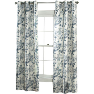 jcpenney.com | Batik Blossom 2-Pack Grommet-Top Curtain Panels