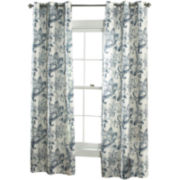 Batik Blossom 2-Pack Grommet-Top Curtain Panels