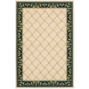 Karastan® Scroll Border Wool Rectangular Rug