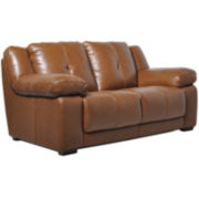 CLOSEOUT! Rodney Leather Loveseat