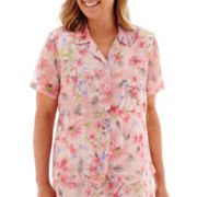 Alfred Dunner® Sweet Melody Short-Sleeve Floral Blouse