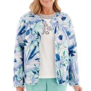 Alfred Dunner® St. Maarten Watercolor Floral Quilt Jacket