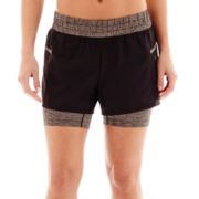 Xersion™ Woven and Knit Layered Shorts