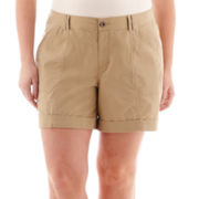 a.n.a® Cuffed Cargo Shorts - Plus