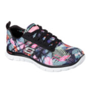 Skechers® Floral Bloom Lace-Up Womens Sneakers