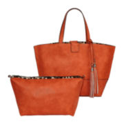 Sondra Robert Shoulder Tote with Tassels