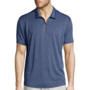 St. John's Bay® Short-Sleeve Terra Tek Quick-Dri Zip Polo