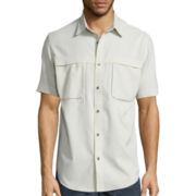 St. John's Bay® Short-Sleeve Terra Tek Quick-Dri Fishing Shirt