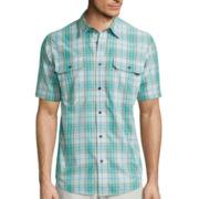 St. John's Bay® Short-Sleeve Terra Tek Quick-Dri Fishing Shirt