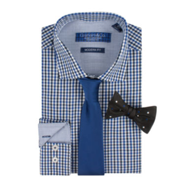 jcpenney.com | Graham & Co. Dress Shirt, Tie and Pre-Tied Bow Tie