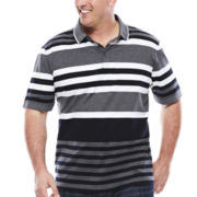 Claiborne® Short-Sleeve Bold Engineer Stripe Shirt - Big & Tall