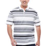 Claiborne® Short-Sleeve Multi-Stripe Engineer Shirt - Big & Tall