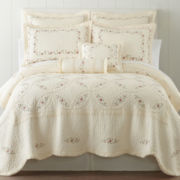 Home Expressions™ Avalon Embroidered Quilt & Accessories