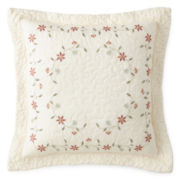 Home Expressions™ Avalon Square Embroidered Decorative Pillow