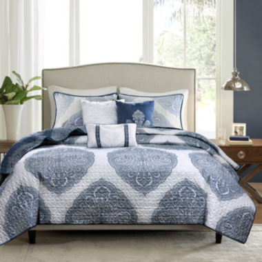jcpenney.com | Madison Park Rebecca Reversible 6-pc. Coverlet Set