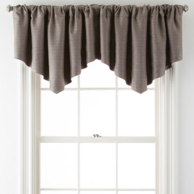 jcpenney.com | JCPenney Home™ Quinn Basketweave Ascot Rod-Pocket Valance