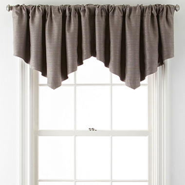 Window Treatment jcpenney valances window treatments : JCPenney Home™ Quinn Basketweave Ascot Rod-Pocket Valance - JCPenney