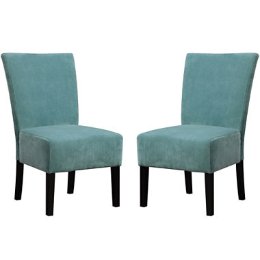 Set of 2 stephanie armless dining chairs jcpenney for Jcpenney dining room chairs