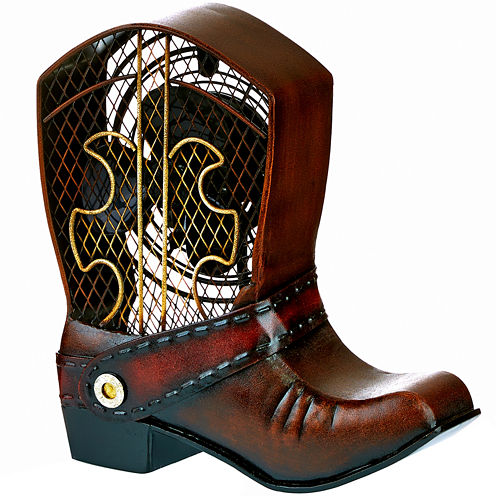 Deco Breeze Cowboy Boot Figurine Fan