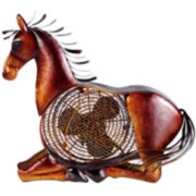 Deco Breeze Horse Figurine Fan