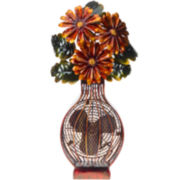 Deco Breeze Flower Bouquet Figurine Fan
