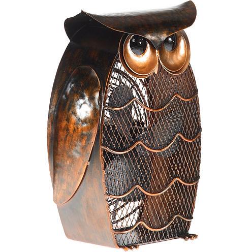Deco Breeze Owl Figurine Fan