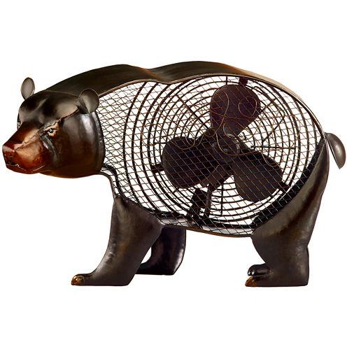 Deco Breeze Black Bear Figurine Fan