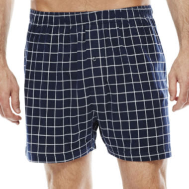 jcpenney.com | Stafford® Plaid Knit Cotton Boxers