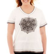 Made For Life™ Short-Sleeve Layered Medallion T-Shirt - Plus
