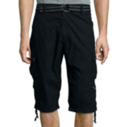 Plugg® Mini Relaxed-Fit Ripstop Messenger Cargo Shorts