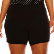 Ambrielle® Knit Sleep Shorts - Plus