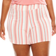 Ambrielle® Knit Sleep Shorts - Plus
