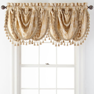 Royal Velvet® Supreme Damask Triple Waterfall Valance