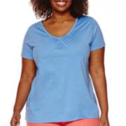 St. John's Bay® Short-Sleeve V-Neck T-Shirt