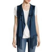 a.n.a® Faux-Suede Fringe Vest