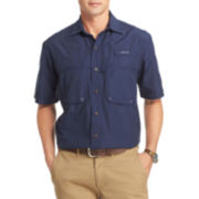 IZOD® Surfcaster Short-Sleeve Woven Button-Front Shirt