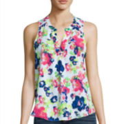Trixxi® Sleeveless Woven Tank Top