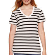 Arizona Short-Sleeve Striped Tee - Juniors Plus