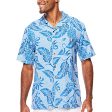 jcpenney.com | Island Shores™ Short-Sleeve Printed Silk Camp Shirt