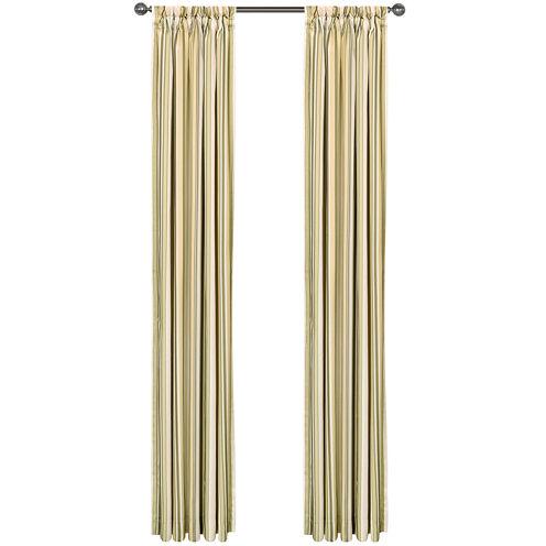 Jasper Stripe Rod-Pocket Lined Curtain Panel