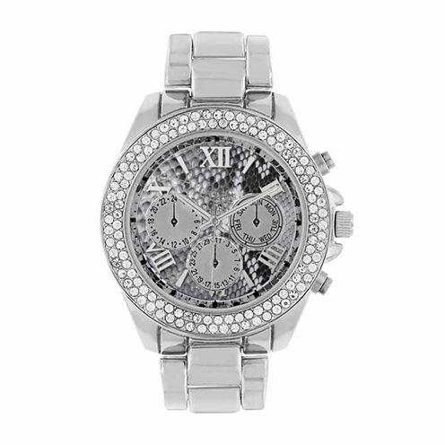 Rocawear Womens Silver Tone Bracelet Watch-Rl11713s1-004