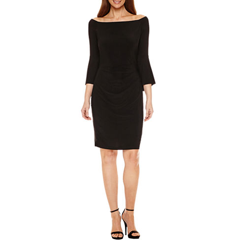 Jackie Jon Off the Shoulder Sheath Dress