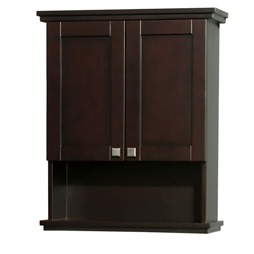 Wyndham Collection Acclaim Solid Oak Bathroom Wall-Mounted Storage Cabinet