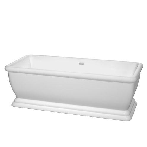 Wyndham Collection Candace 68 inch Freestanding Bathtub
