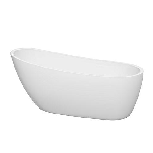 Wyndham Collection Florence 68 inch Freestanding Bathtub
