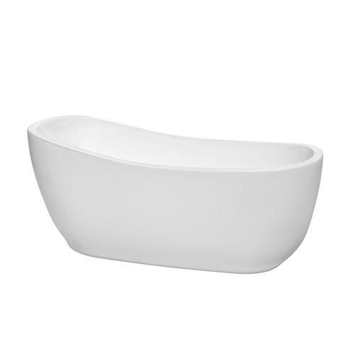 Wyndham Collection Margaret 66 inch Freestanding Bathtub