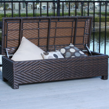 jcpenney.com | Santiago Outdoor Wicker Storage Ottoman